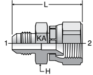 Parker Komatsu 30° Swivel Conversion Adapters