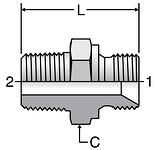 Parker K4 BSPT Male Connectors