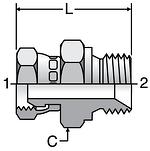 Parker K4 Swivel Nut Connectors