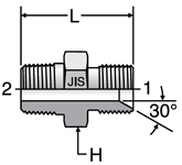 Parker JIS Male Connectors