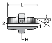 Parker JIS Mail Connector