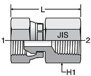 Parker JIS Swivel Female Connectors