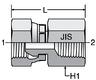 Parker G63P4: 60° Swivel / Male BSPT Connector
