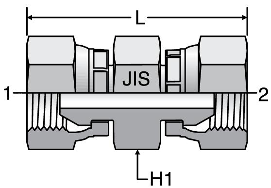Parker JIS Swivel Union Connectors