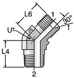 Parker 45° Male Elbows