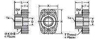 Parker G4Q BSPP Port Block Adapter