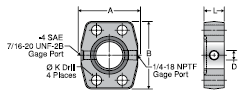 Parker SPGG5 Flange Spacer with Gge Ports