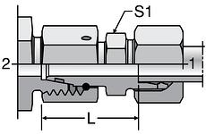 Parker DA - EO-2 Distance Piece Adapters