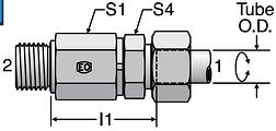 Parker DG102-M - EO Ball Bearing Rotary Straight
