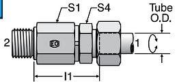Parker DG102-R - EO Ball Bearing Rotary Straights