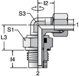 Parker DVWE-M - EO Plain Bearing Rotary Elbows