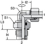 Parker DVWE-R - EO Plain Bearing Rotary Straights