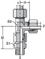 Parker EL-M-ED - EO Adjustable Assembled Swivel Run Tees