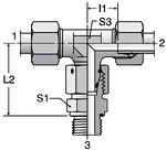 Parker ET-M-ED - EO Assembled Adjustable Swivel Branch Tee