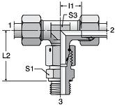 Parker ET-M-ED - EO-2 Assembled Adjustable Swivel Branch Tees