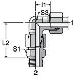 Parker EW-M-ED - EO Assembled Adjustable Swivel Elbows