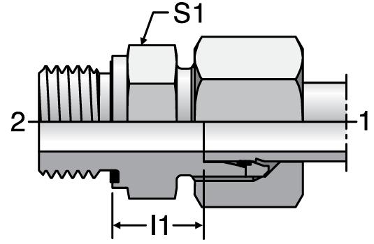 Parker GE-R-ED - EO Male Connectors