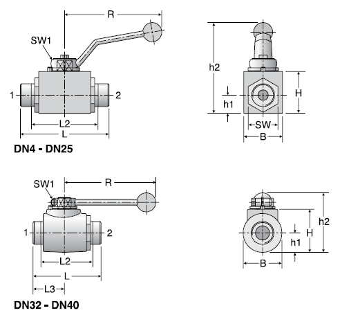 Parker KH - EO Two-Way Ball Valves