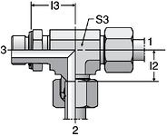 Parker LEE-M - EO-2 Adjustable Locknut Run Tees