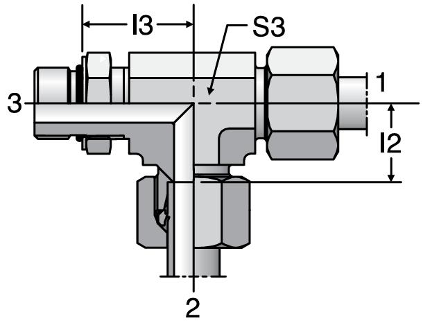 Parker LEE-UNF - EO-2 Adjustable Locknut Run Tees