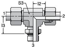 Parker TEE-UNF - EO-2 Adjustable Locknut Branch Tee