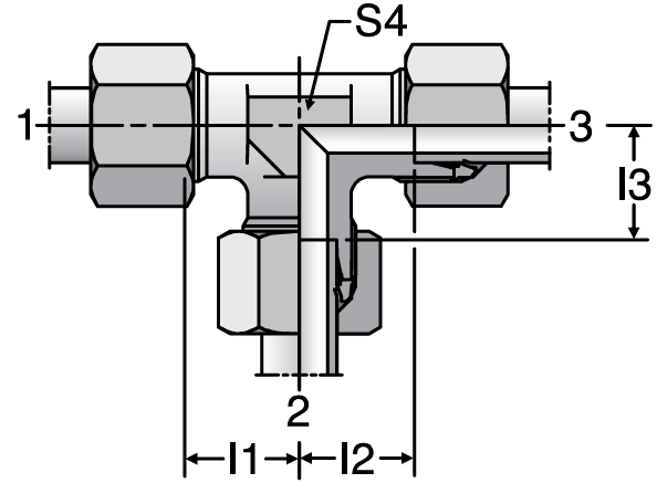 Parker TR - EO-2 Tee Reducers