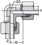 Parker W - EO-2 Elbow Unions