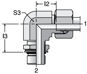 Parker WEE-OR - EO Adjustable Locknut Elbow
