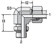 Parker WEE-R - EO Adjustable Locknut Elbow