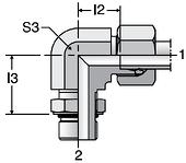 Parker WEE-UNF - EO-2 Adjustable Locknut Elbows