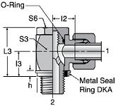 Parker WH-R-KDS - EO-2 High Pressure Banjo Elbows