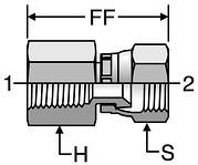 Parker NPT / SAE Pressure Gauge Adapters (Type F)