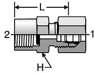 Parker BSPP Pressure Gauge Adapters (Type D)