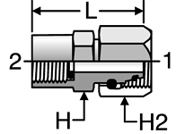 Parker BSPP Pressure Gauge Adapters