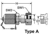 Parker M16 X 2.0 Diagnostic Tips / EO Swivels (Type A)