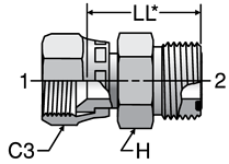 37° flare to ORFS Male Adapters