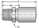 Parker HY series 101HY crimp fitting