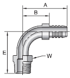 Parker 88 series 2188 fitting