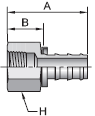 Parker 82 series 30282 fitting