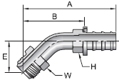 Parker 82 series 36782 fitting