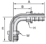 Parker 82 series 36982 fitting