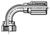42-Series Female Seal-Lok® - Swivel - 90˚ Elbow - Short Drop
