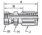Parker 30 series 20830 fitting