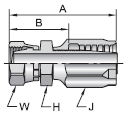 Parker 30 series 21230 fitting