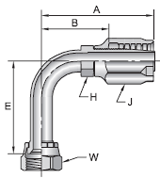 Parker 30 series 24130 fitting