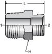 Parker 25 series 017M air brake adapter crimp fitting