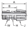 Parker 21 series 22821 field attachable fitting