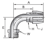 Parker 21 series 26921 field attachable fitting