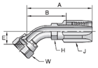 Parker 20 series 23720 field attachable fitting