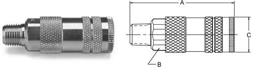 Parker 70 Series Male Pipe Thread Couplers